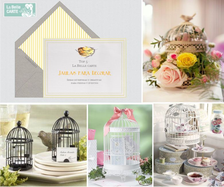 para merendar de boda ideas para fiestas jaulas para decorar