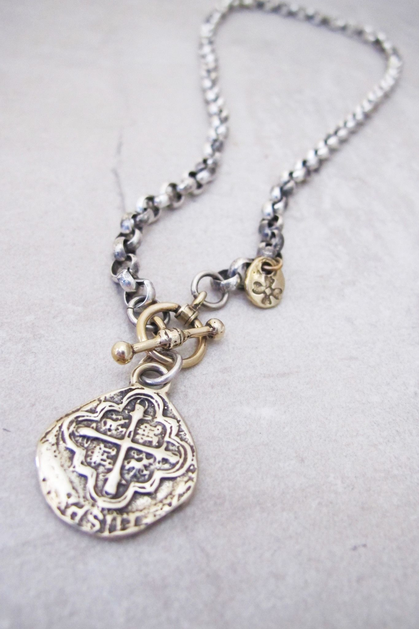 spanish coin jewelry necklace