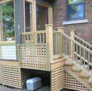 Screened In Porch New Prairie Construction Decks Backyard Deck Skirting Building A Deck