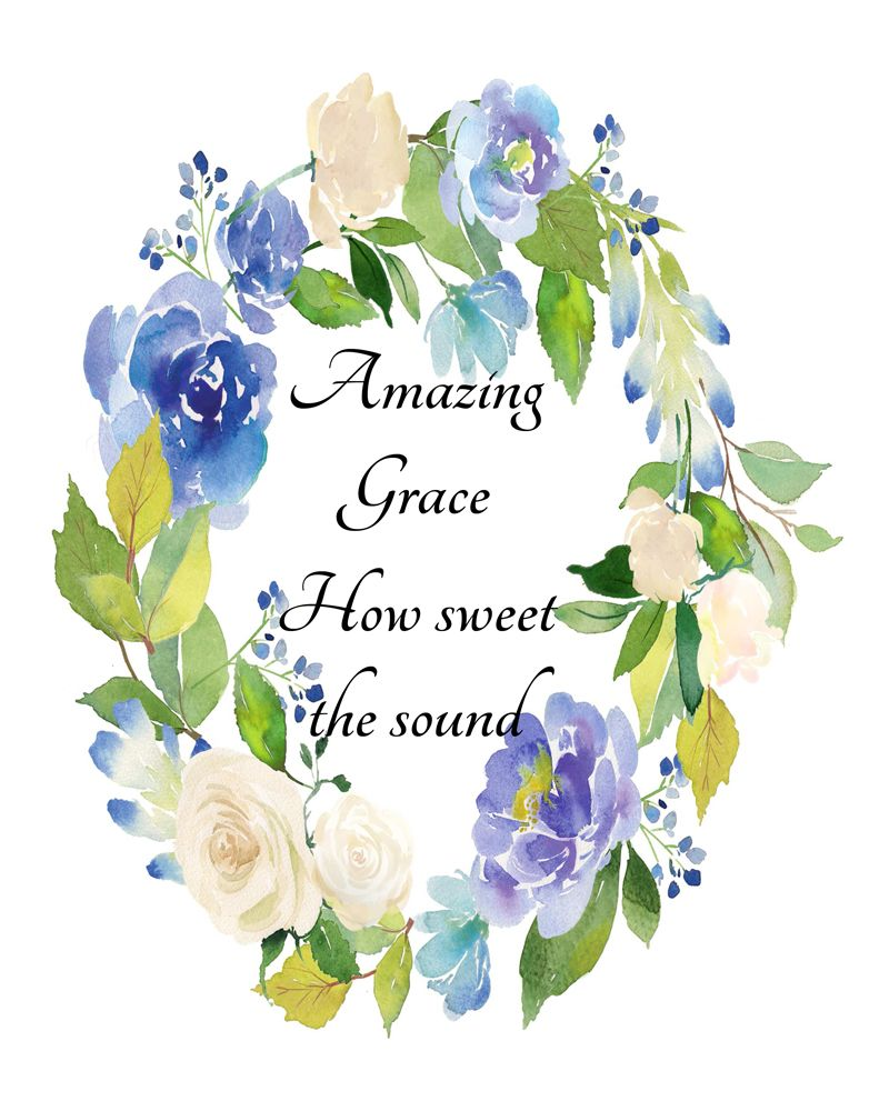 Amazing grace hymn printable how sweet the sound amazing grace