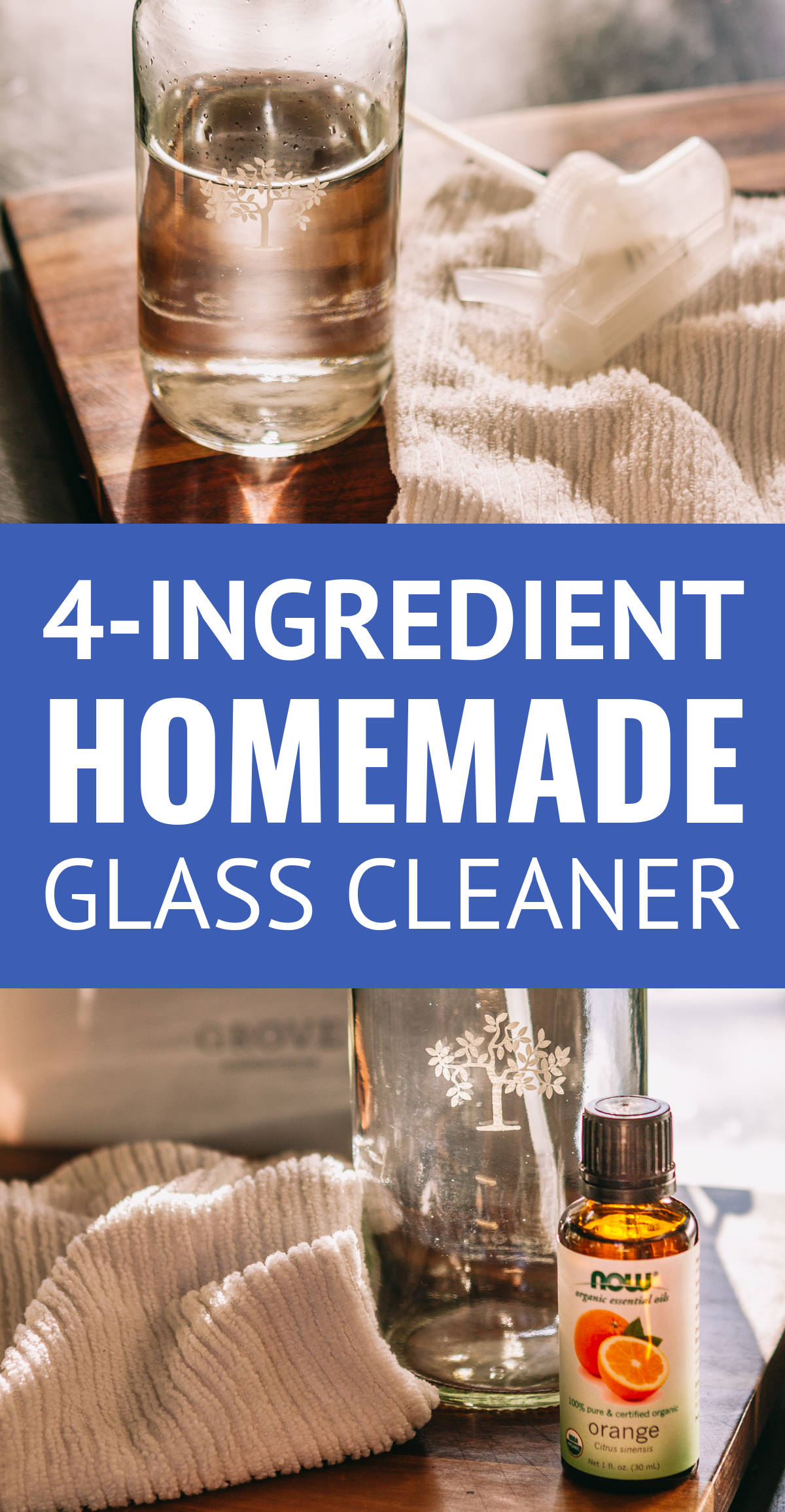 The BEST Homemade Glass Cleaner (4 Ingredients) -- Truly