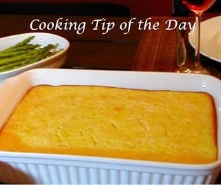 Cooking Tip of the Day: Recipe: Southern Corn Pudding
