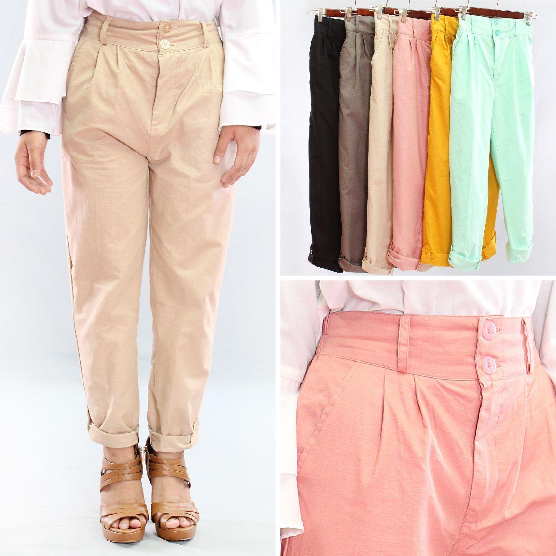 Tampil gaya dengan celana berdesain simpel dan trendi dilengkapi kancing dan  saku. Tersedia dalam variasi 6eb183c713