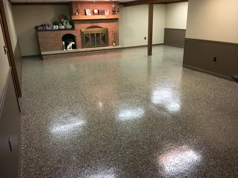 Epoxy Garage Floor Coating Epoxy Flake System In 2020 Epoxy Garage Floor Coating Garage Floor Epoxy Floor Coating