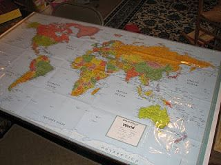 World map plastic table cloth cover homeschool pinterest world map plastic table cloth cover gumiabroncs Gallery