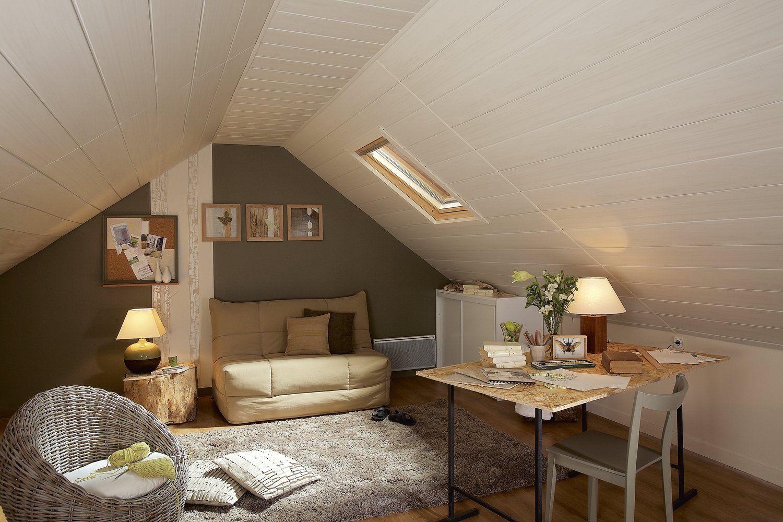 Petit salon cosy sous les combles. #bureau #homedecor #ideedeco