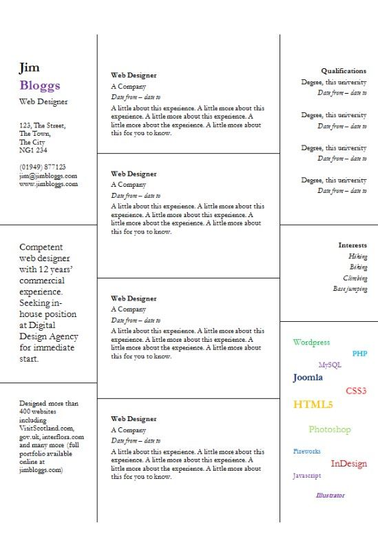 Windows Word Cv Template  Garamond Colours Graphic Style  Cv