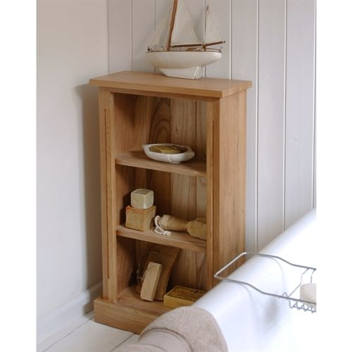 Rivermead Oak Open Narrow Bookcase Including Free Delivery 1001 003 Pine Solutions