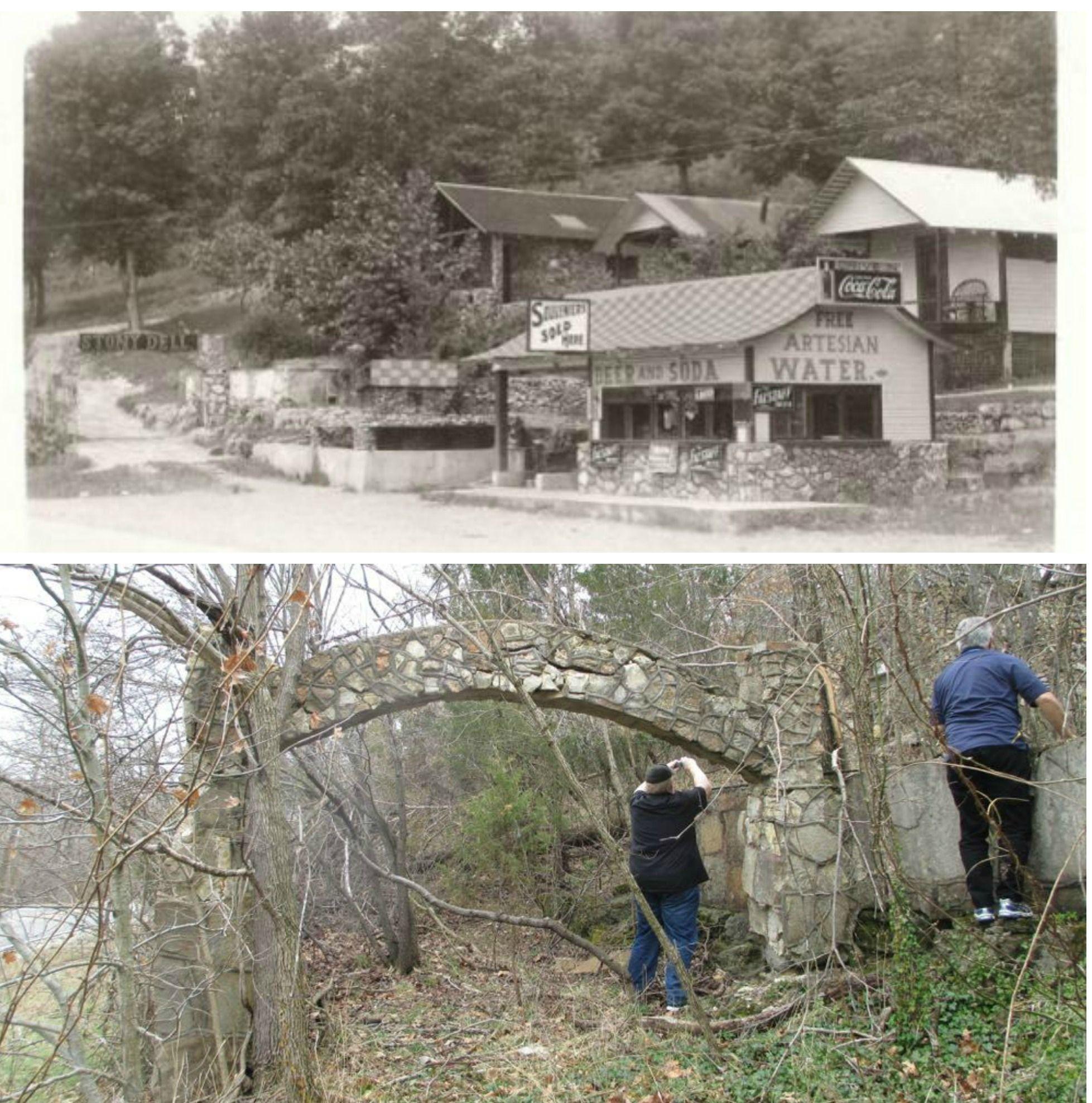 Then and Now - Stony Dell Resort, Arlington, MO | Missouri History