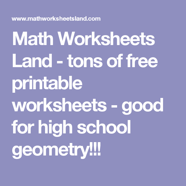 Math Worksheets Land - tons of free printable worksheets - good for ...