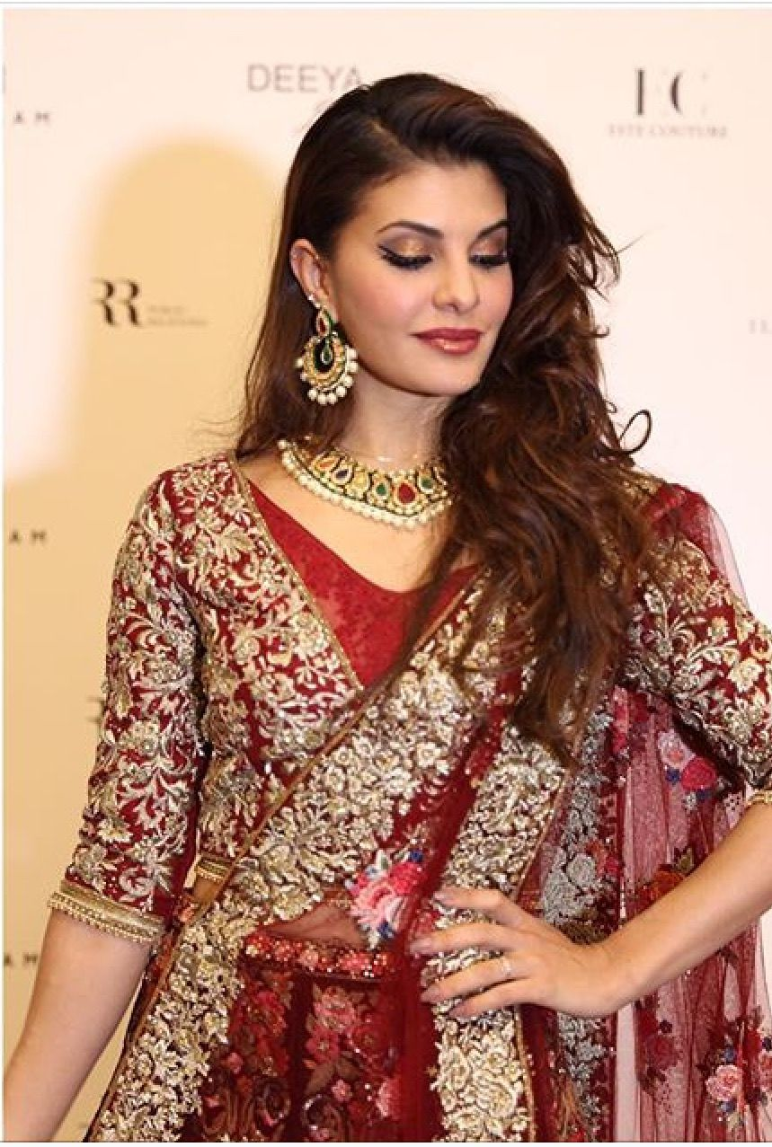 Jacqueline Fernandez - Bollywood actress wearing beautiful Deeya jewellery from our new collection. Customise set to to colours you require. Contact Deeya Jewellery by calling, Whatsapp or viber to purchase or enquire on 00447545228167. www.deeya.co.uk. We deliver worldwide. #Jacquelinefernandez #deeyajewellery #Indianjewelry #weddingjewellery  #bridaljewelry #bridaljewellery