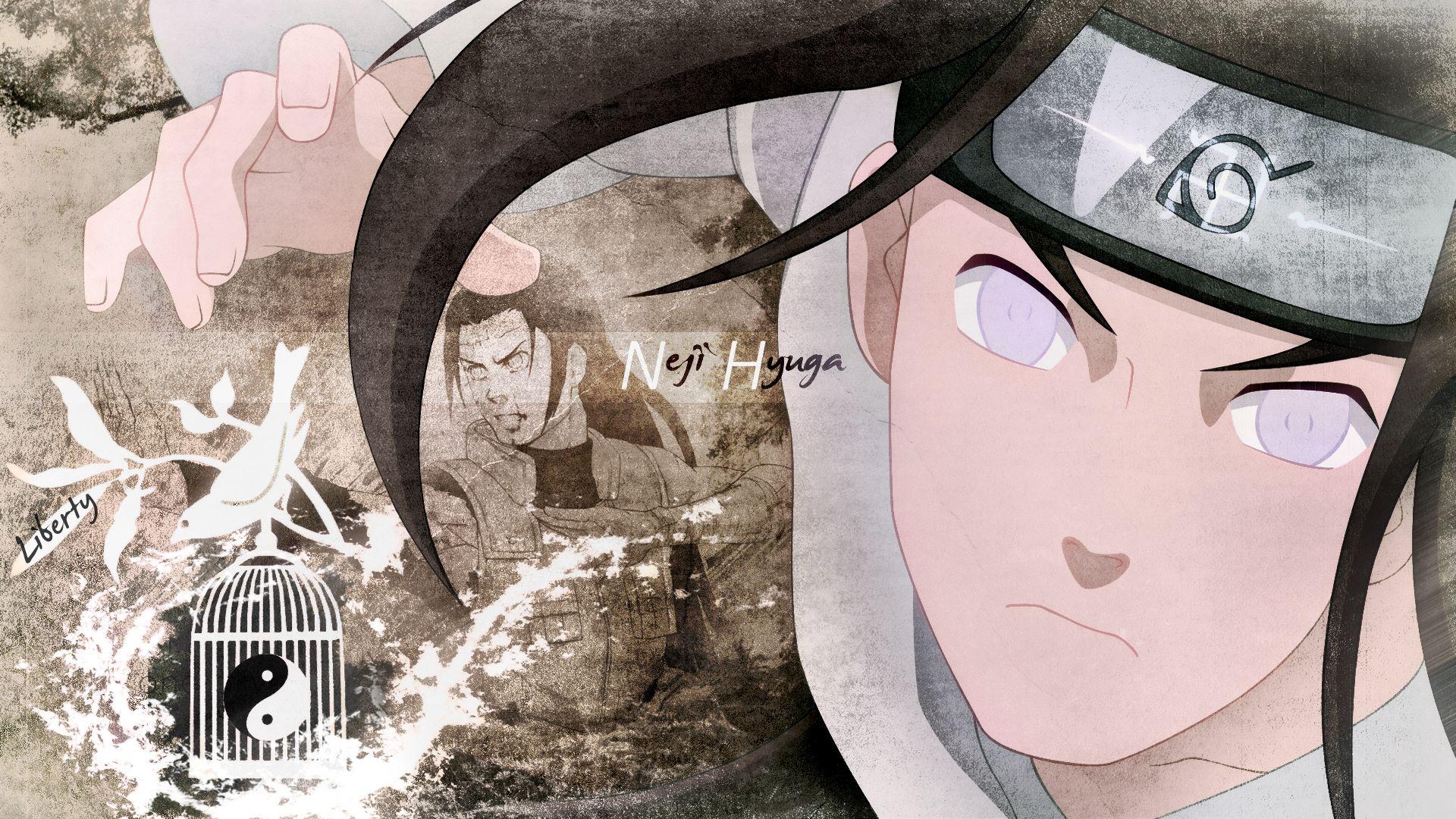 Fonds D Ecran Manga Naruto Neji Hyuga Liberty Anime Noir Et Blanc Images