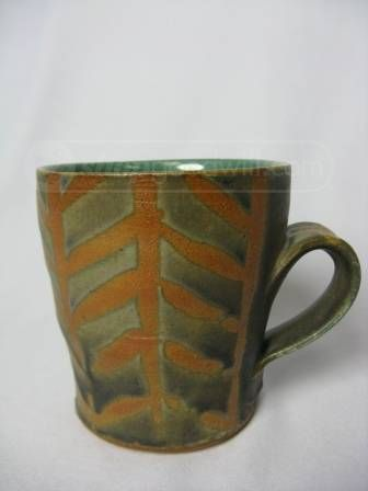 (listing made by yours truly)  chevron rustic ceramic coffee cup