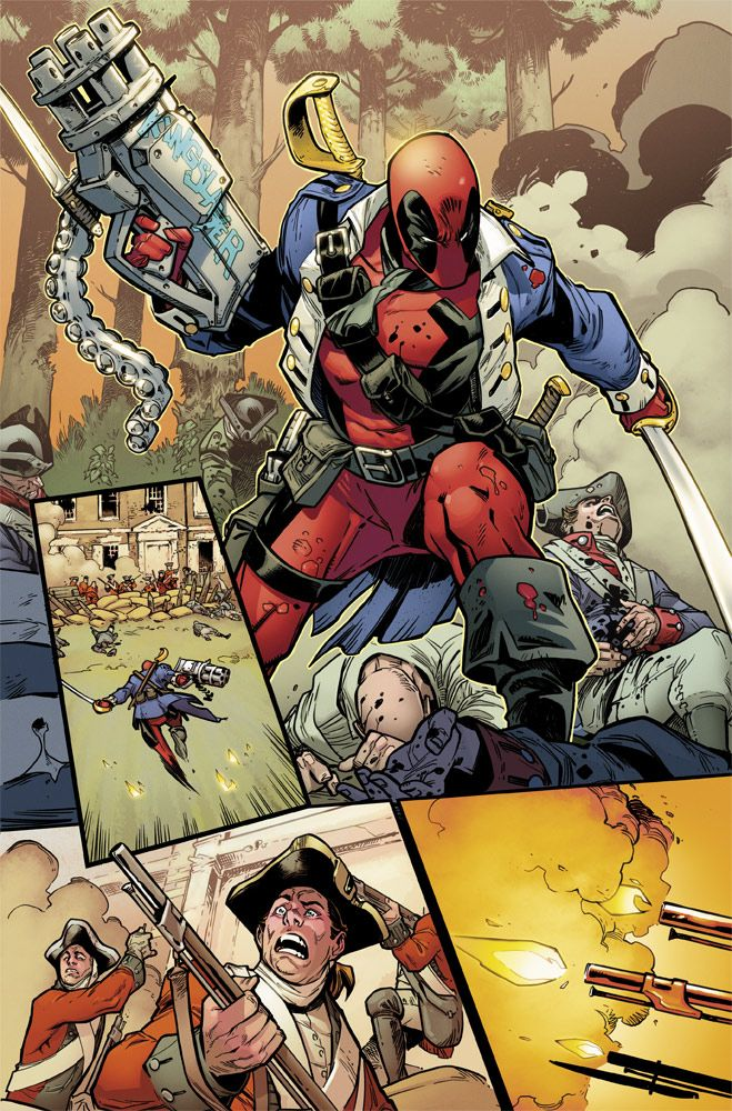 Deadpool Vs X Force Go Back To The 90s For Their First Extreme Face Off Newsarama Com Deadpool Comic Marvel Comics Comics