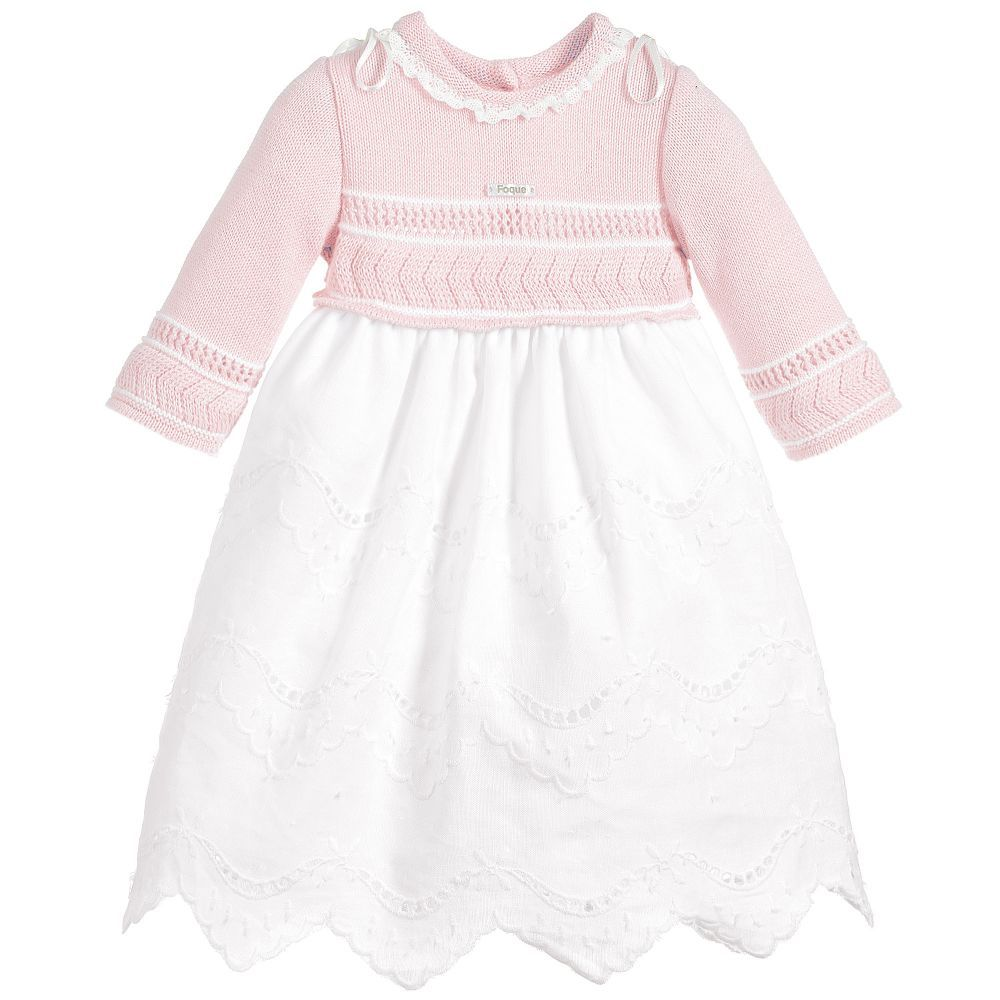 In True Foque Style This Sweet Day Gown For Baby Girls Has