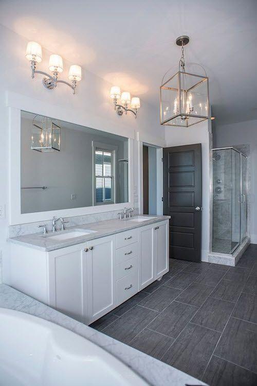 dark_gray_bathroom_tile_7 Dream home Pinterest Dark gray