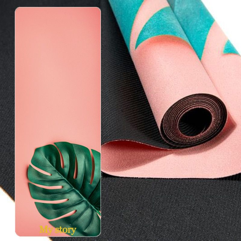 Suede Yoga Mat Natural Rubber 183 61cm 1mm 3 In 1 Layer Folder Anti Slip Exercise Mat For Pilates Dance Https Outdoo Mat Exercises Dance Workout Yoga Mat