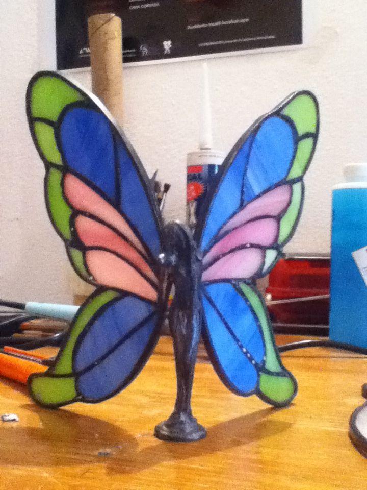 Mariposa de vitral