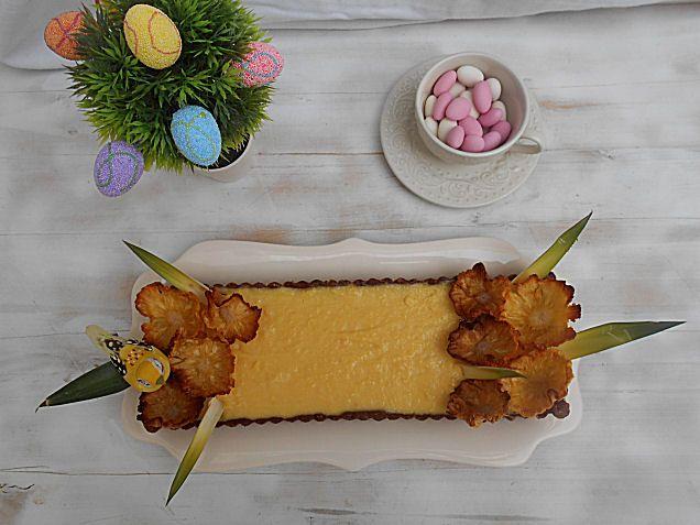 Coisas simples são a receita ...: Tarte de abacaxi e chocolate branco