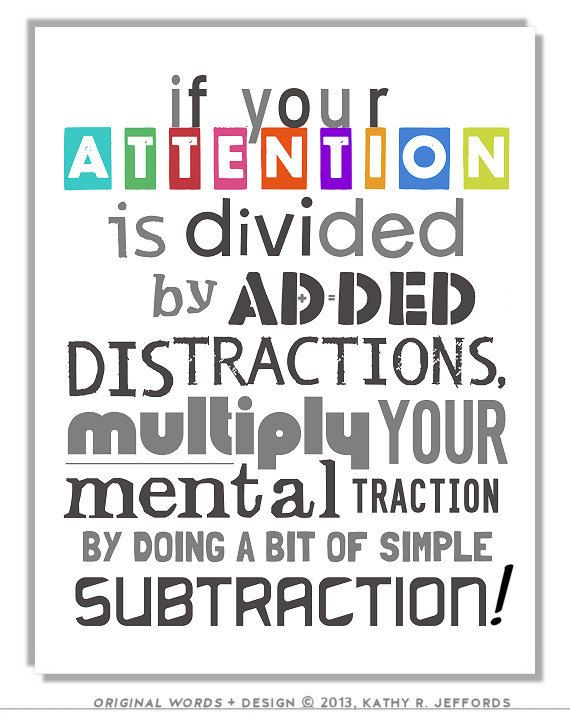 math art print nerd gift if your attention is divided quote