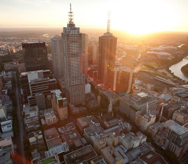 View of Melbourne on hot air balloon Hot air balloon