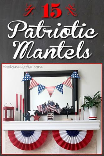 4th Of July Fireplace Mantle Decor