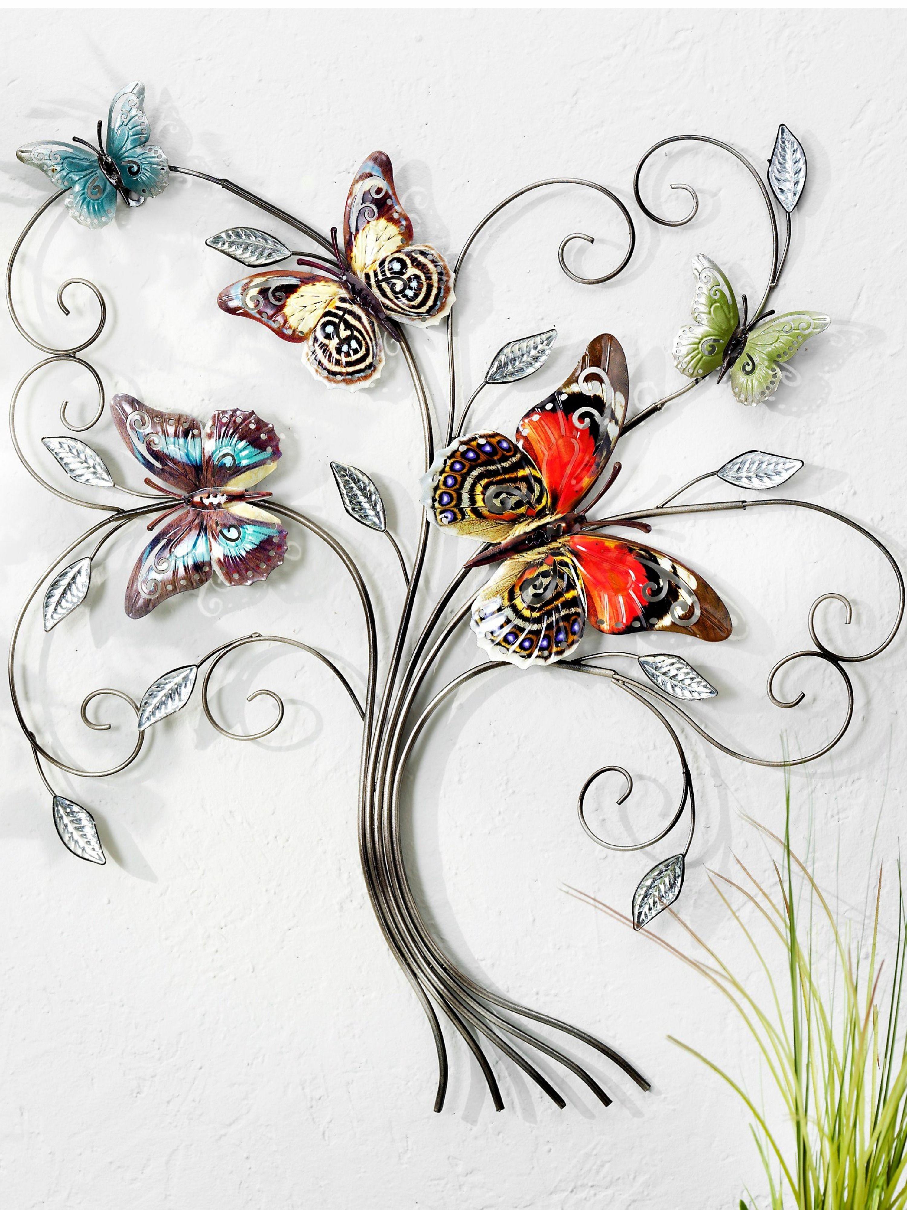 wandornament aglais jetzt bei weltbild de bestellen ornamente wandschmuck fenstergestaltung wanddeko metall blume silber wanddekoration aus