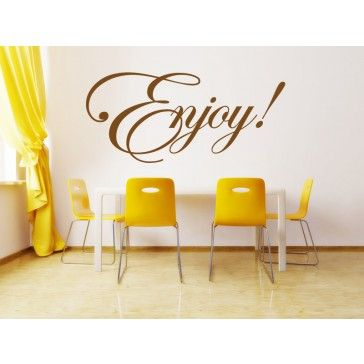 Enjoy Italic Wall Stickers Love Quote Wall Quote Wall Art Decal ...