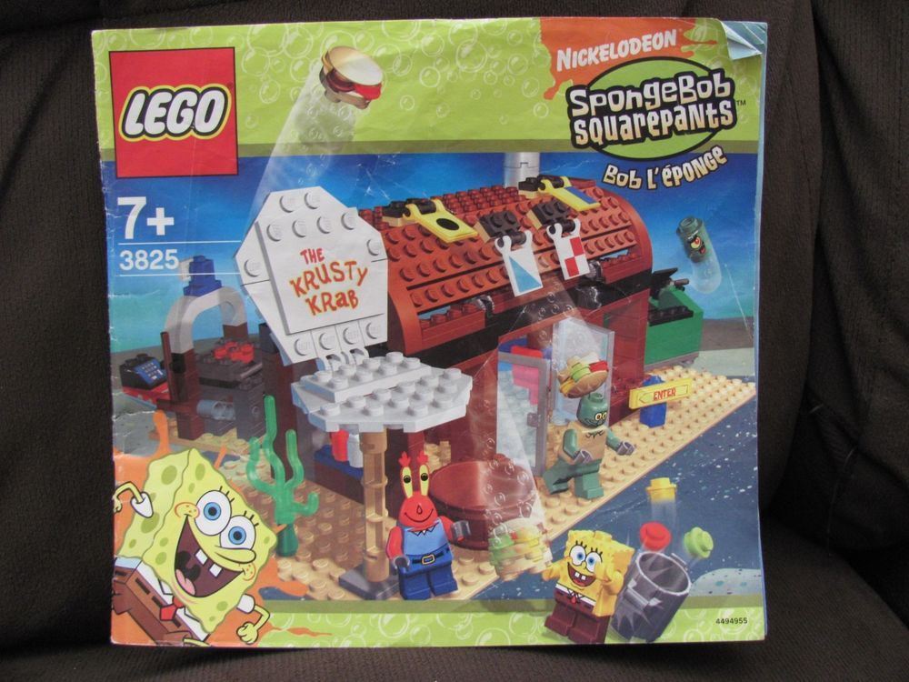 Instructions 3825 Spongebob Squarepants Krusty Krab Lego Manual