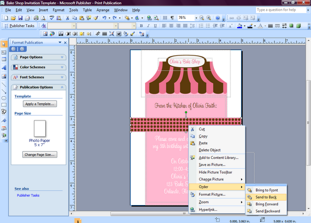 Invite Tutorial With Ms Publisher How To Make Invitations Tutorial Microsoft Publisher