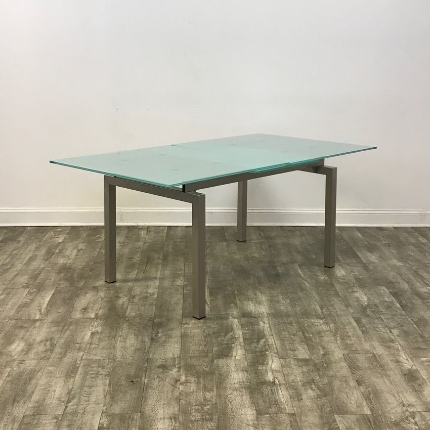 frosted glass modern expandable dining tablecalligaris