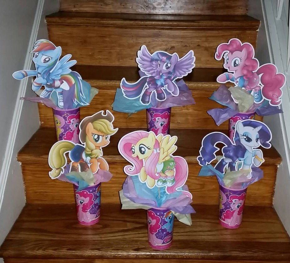 All 6 My Little Pony Party Centerpiece S 5 To 7 Inche S My