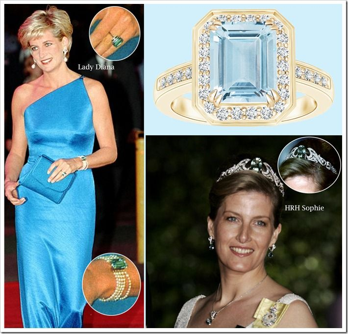 Royal aquamarine jewelry 2 princess kate aquamarines and diana diana and sophie aquamarine jewelry from her jewelry collection we aloadofball Image collections