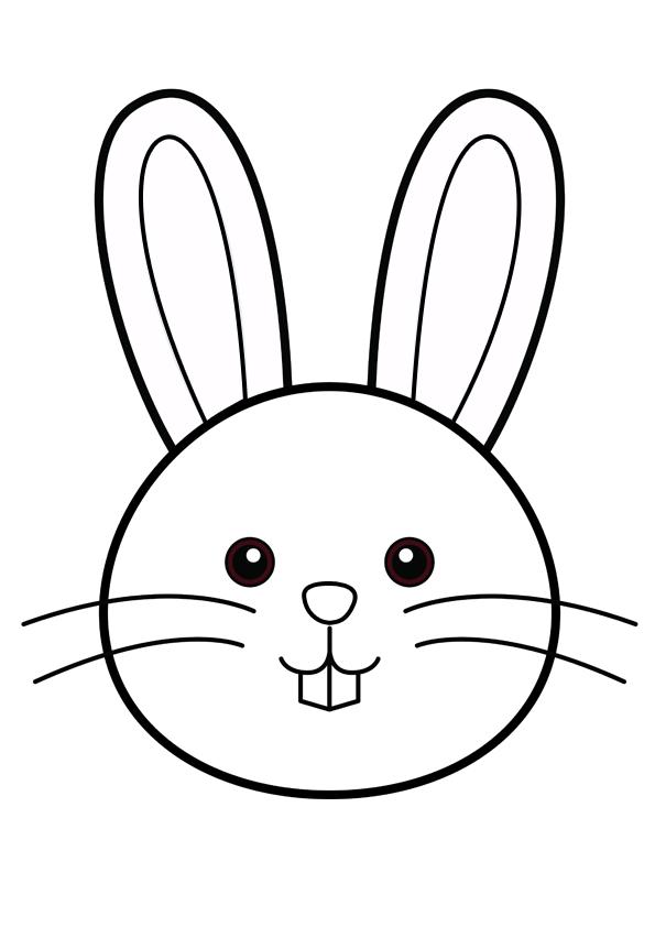 Coloriage Facile Lapin De Paques.Pin By Tata Assmat On Bricolage De Paques Easter Rabbit