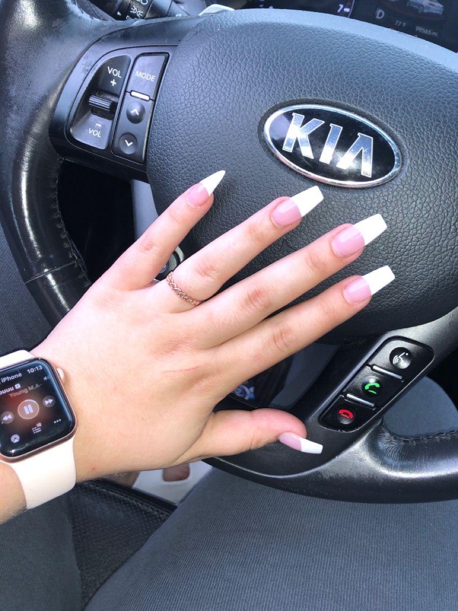 #nails #longnails #frenchnails #coffinnails #stilettonails
