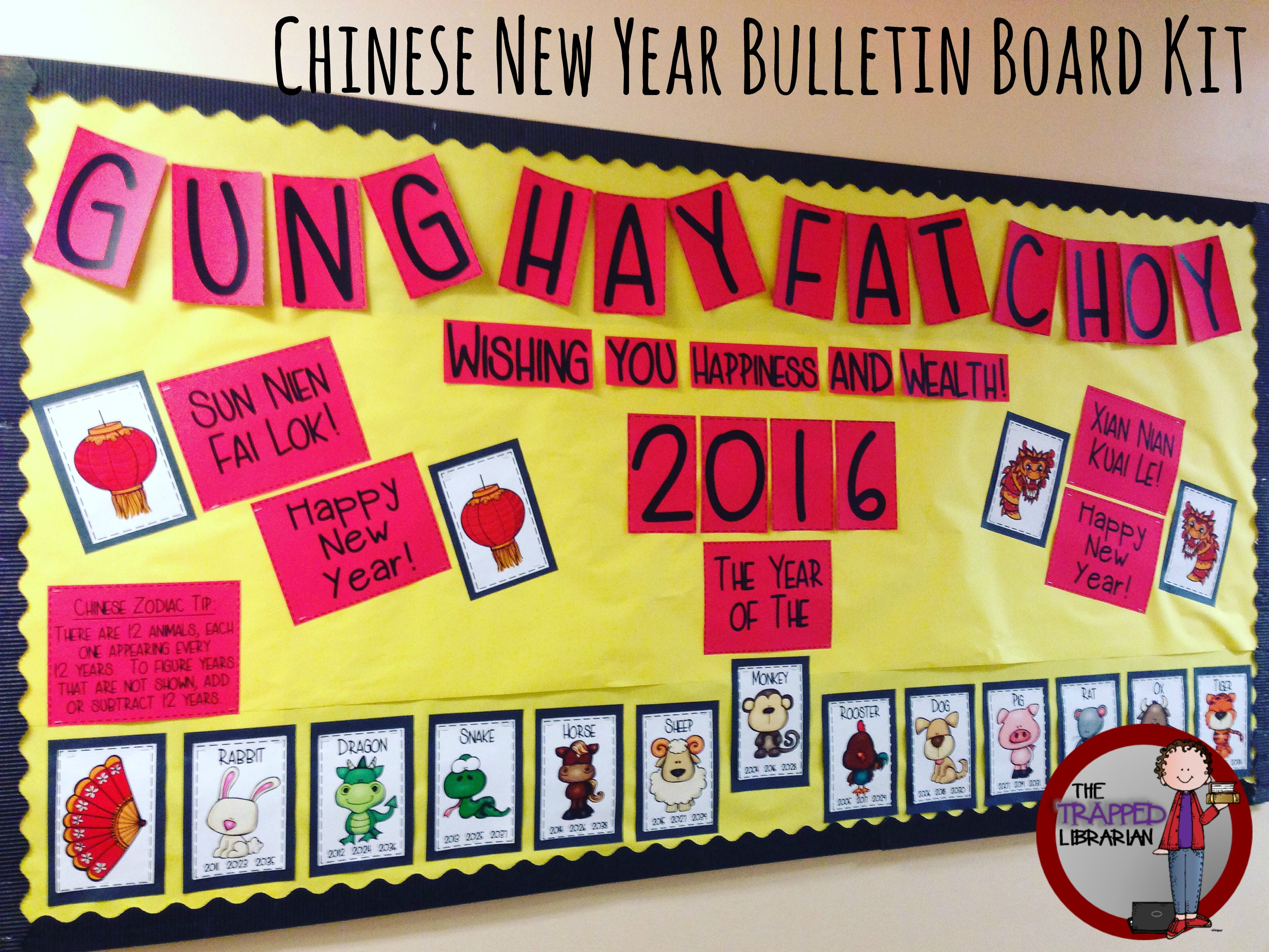 Chinese New Year Bulletin Board Kit | Chinese new year ...