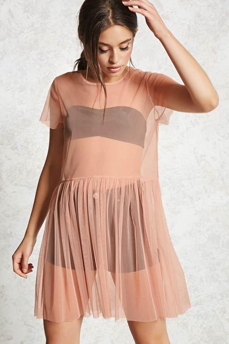 Sheer Mesh Overlay Dress Black Dress Outfit Casual Mesh Overlay Dress Black Mesh Overlay Dress [ 1125 x 750 Pixel ]