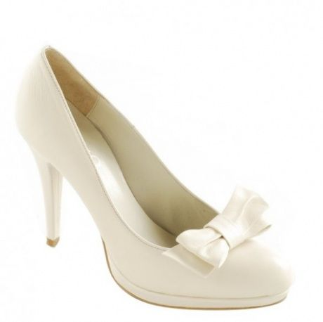 Biale Szpilki Skorzane Z Kokardka Kolekcja Rylko Buty Slubne Shoes Wedding Shoe Heels