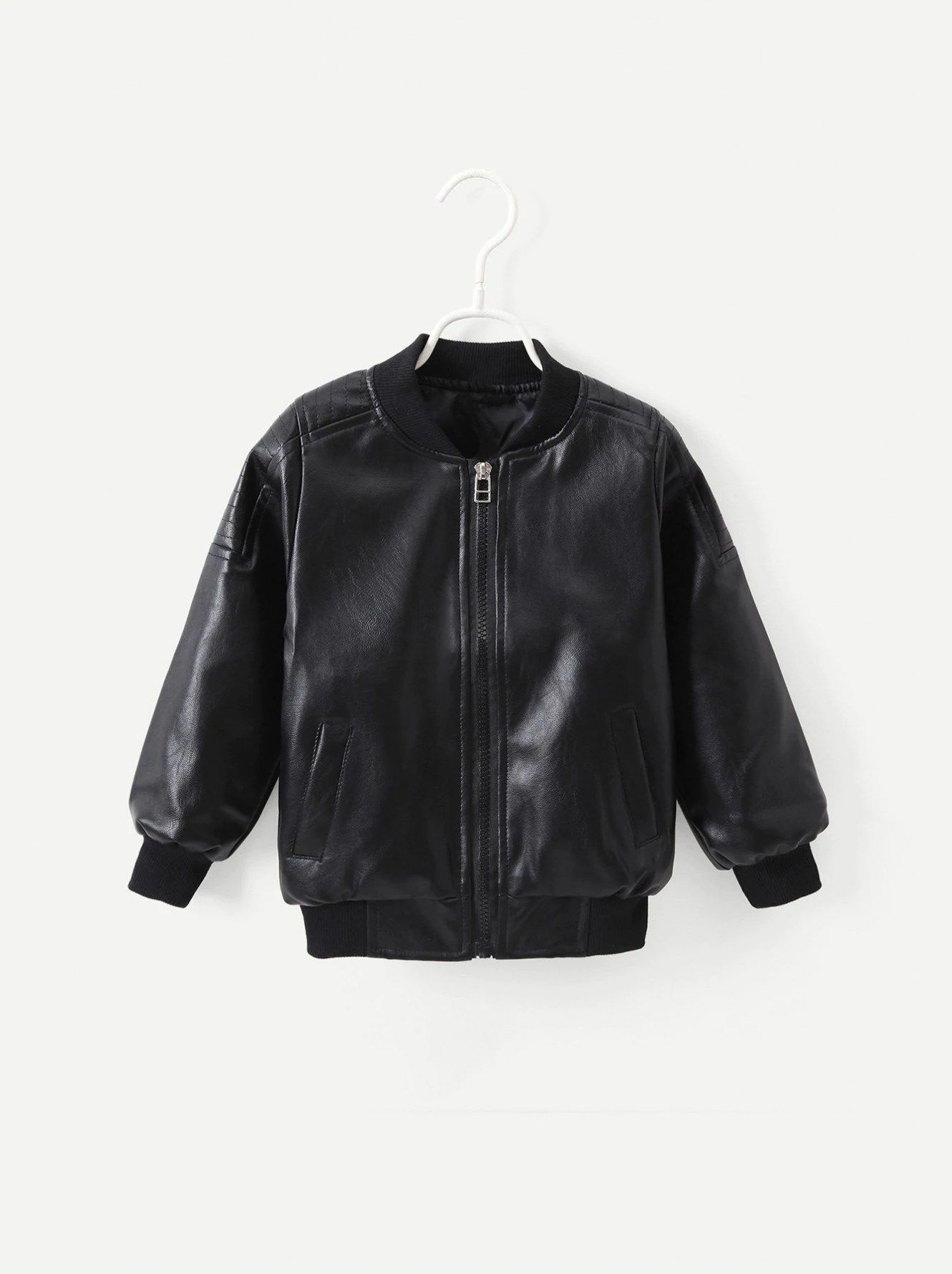 14 Toddler Boys Solid Faux Leather Jacket Leather Jacket Jackets Faux Leather Jackets [ 1780 x 1330 Pixel ]