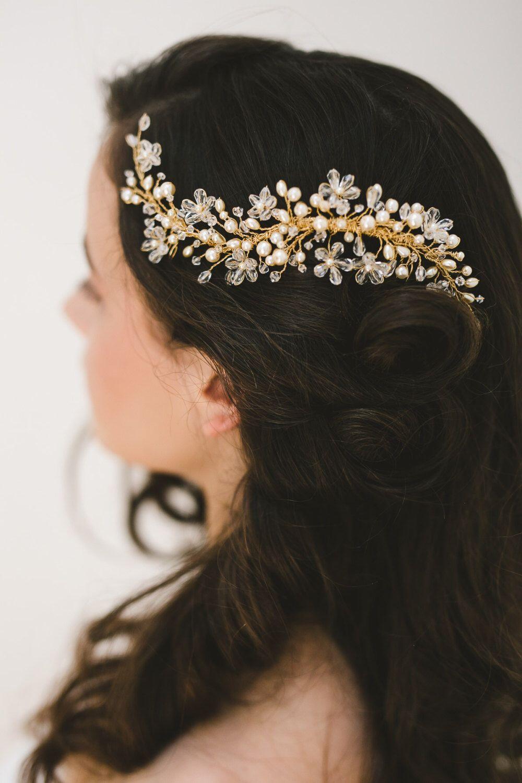 bridal hair vine - luccia wedding hair vine, bridal headpiece