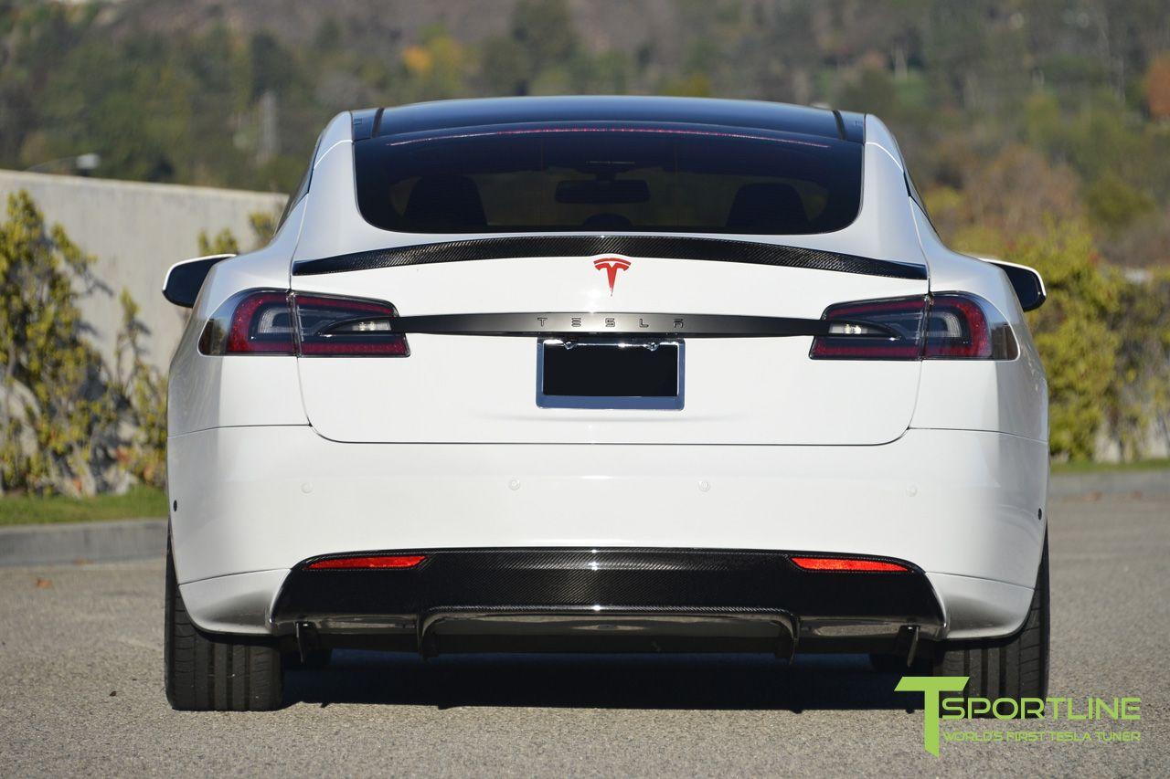 Tss Daily Spoiler >> Tesla Model S Carbon Fiber Trunk Wing Spoiler Carbon Fiber