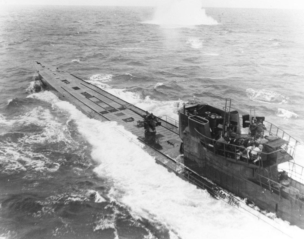 photo german type ix submarine u 848 under attack from us navy pb4y