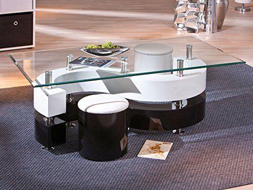 Inter Link 50100015 Couchtisch Glastisch Wohnzimmertisch Wohnzimmer