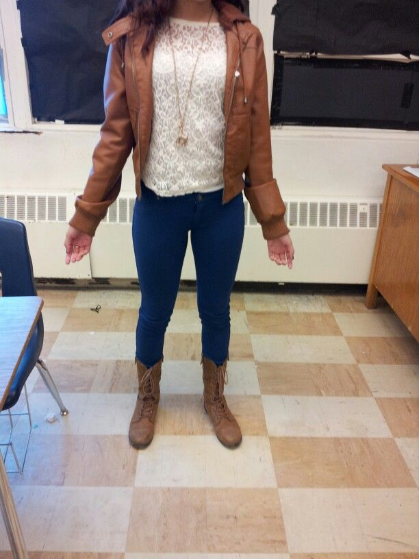 Leather jacket outfit combat boots | ♥I want♥ | Pinterest ...