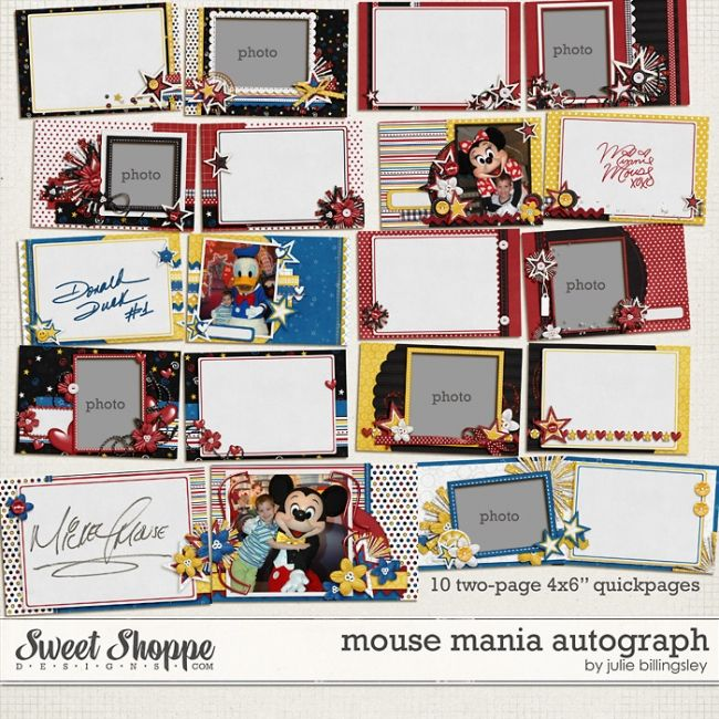 Disney Autograph Book - have autograph pages printed before trip, then take photos w/ characters and assemble the book when you get home!