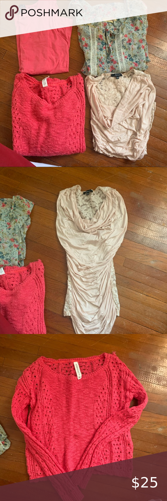 Spring/summer tops bundles size small Needs a new home � Make an offer please! Please see photos for me info I am happy to answer and questions you may have � Tags: fashionable, fashionista, trendy, comfy, cozy, business casual, quality, warm, winter clothing, summer clothing, college, sorority, ootd, fraternity, brandy Melville, target, fashion nova, wrangler, spring break, spring Candie's Tops