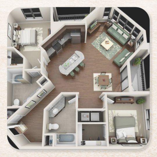 Create Your Own Paper Coaster Zazzle Com In 2020 Sims House Plans House Plans Sims House