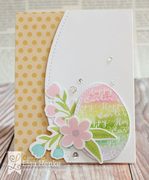 Fresh cut flowers dies easter greeting greeting words and easter features a perfectly large egg with our dual stitching design a separate happy easter greeting word die in a hand illustrated script m4hsunfo