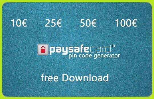 Paysafecard Generator 2020 Deutsch