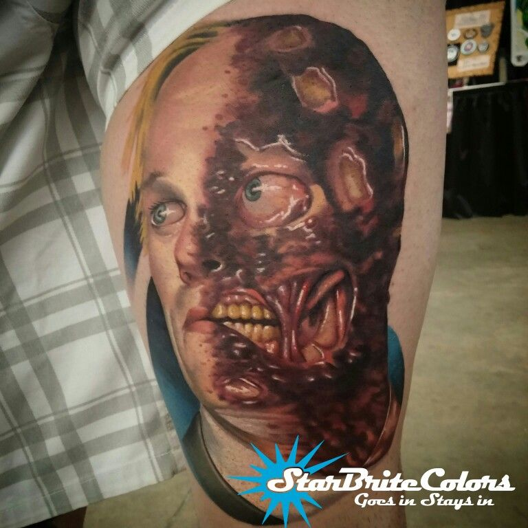 Best Two Face tattoo by Chanuen Flint   Face tattoo